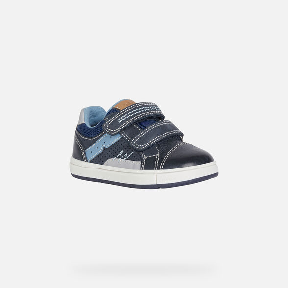 SNEAKERS BABY GEOX TROTTOLA BABY BOY - NAVY AND GREY