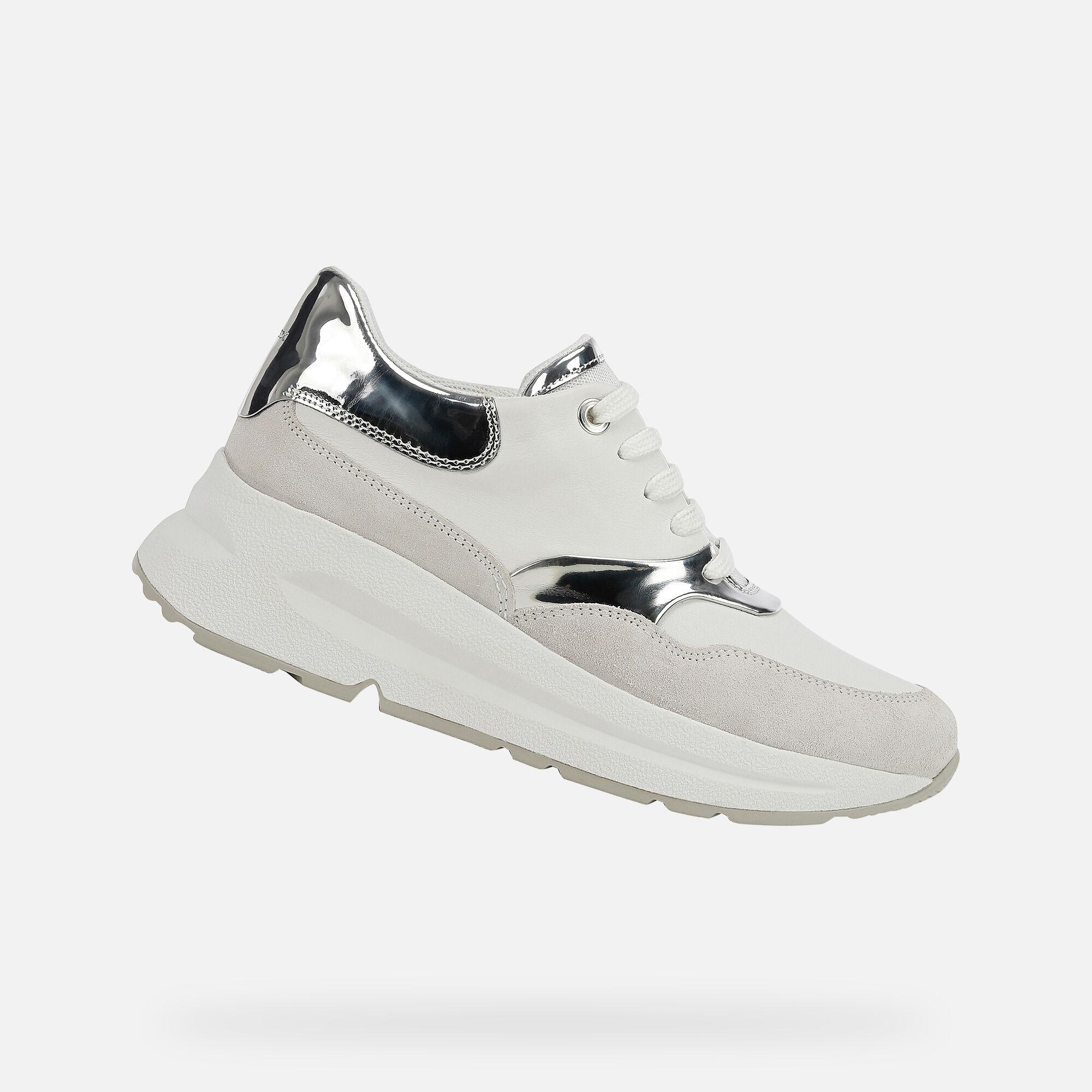 Geox BACKSIE Woman: White Sneakers