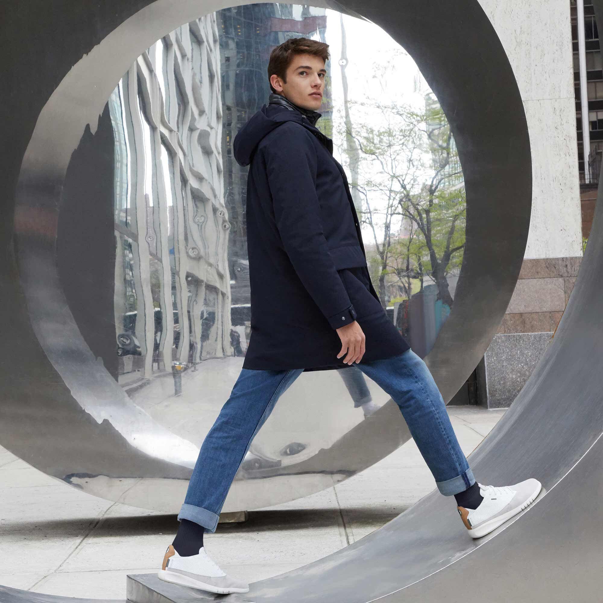 Geox AERANTIS Mann: blaue Jacke | Geox HerbstWinter