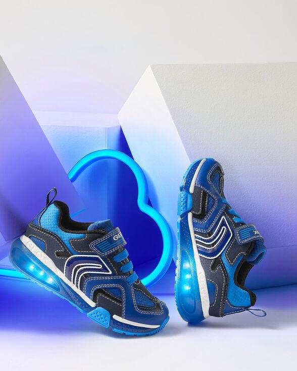 SNEAKERS BOY GEOX BAYONYC BOY - ROYAL AND LIGHT BLUE