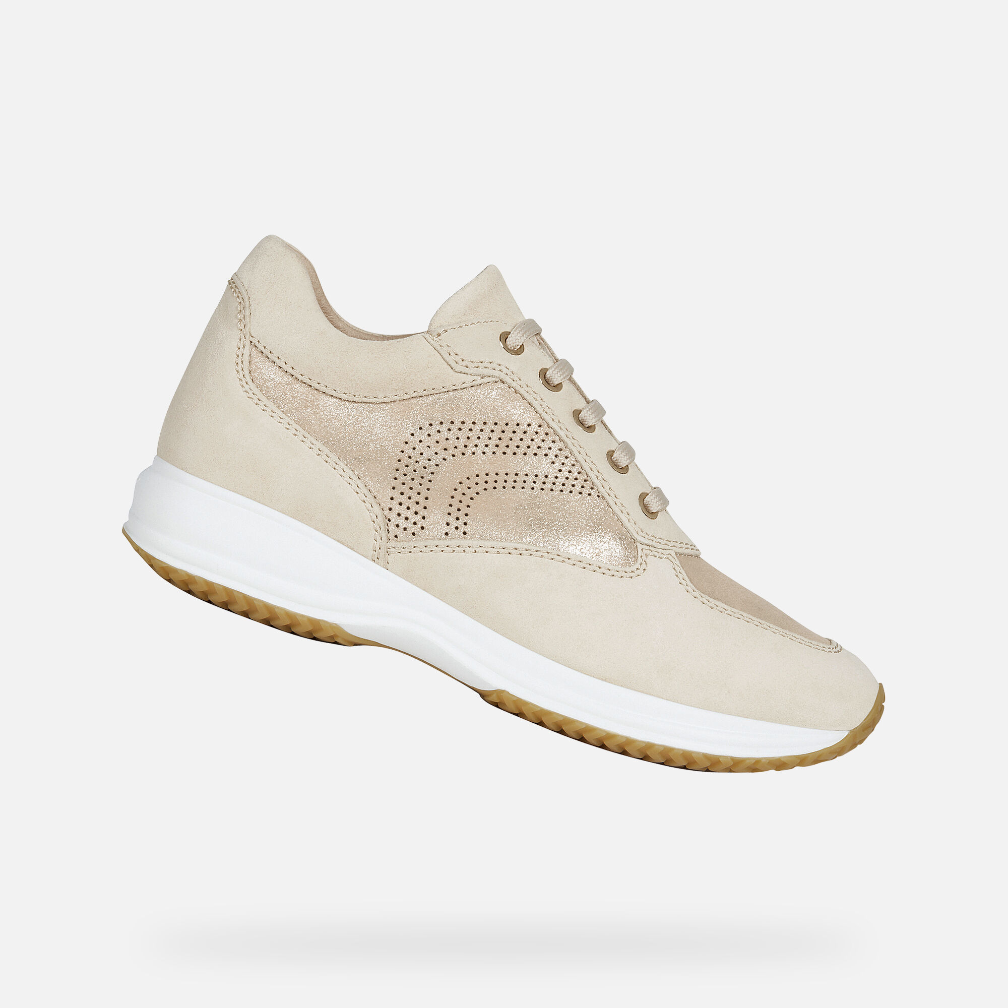 Geox DONNA HAPPY Woman: Sand Sneakers