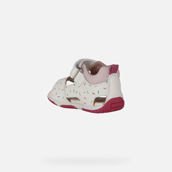 FIRST STEPS BABY GEOX TAPUZ BABY GIRL - WHITE AND PINK