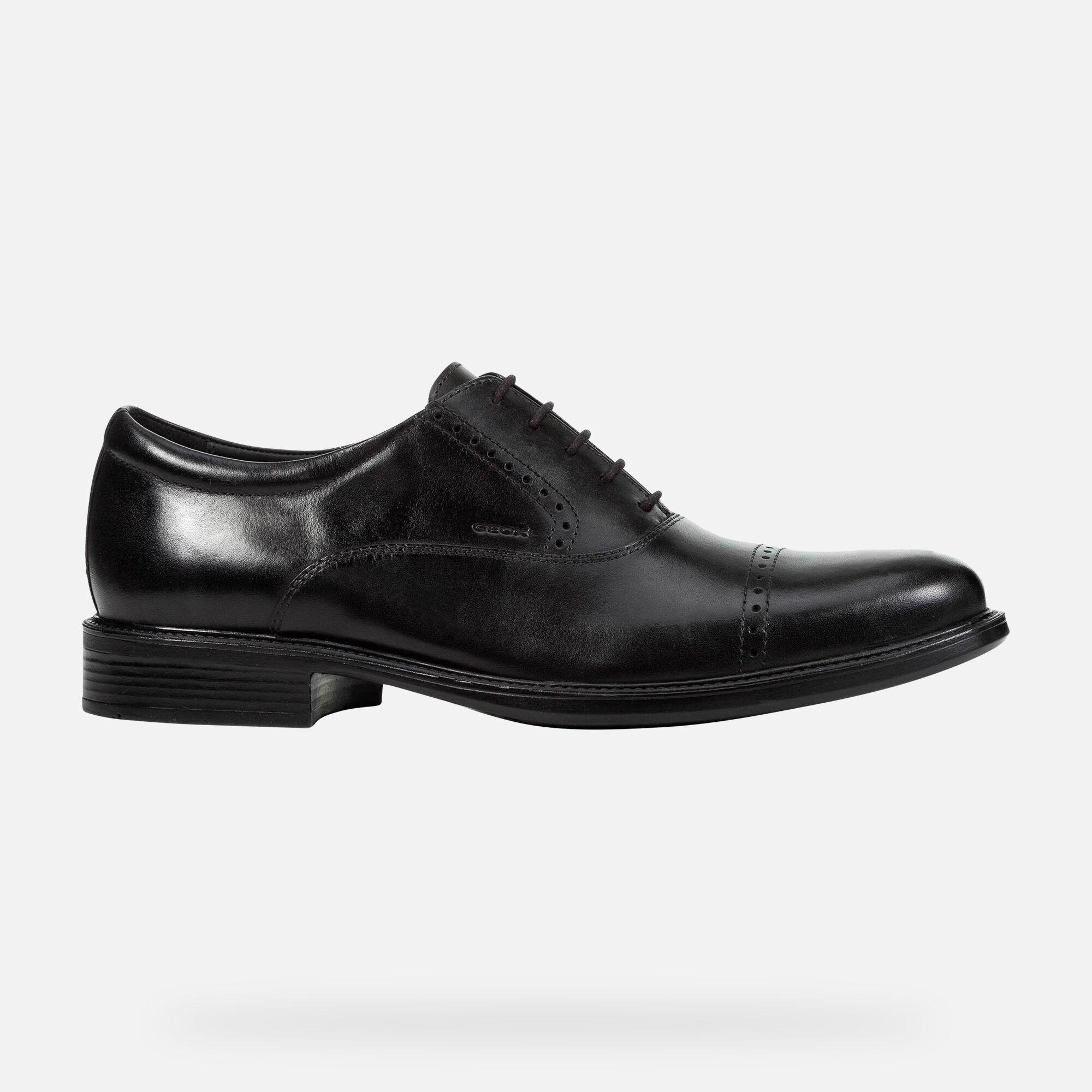 Geox UOMO CARNABY: Black Man Shoes | Geox SS19