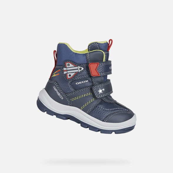 LIGHT-UP SHOES BABY GEOX FLANFIL ABX BABY BOY - NAVY AND RED