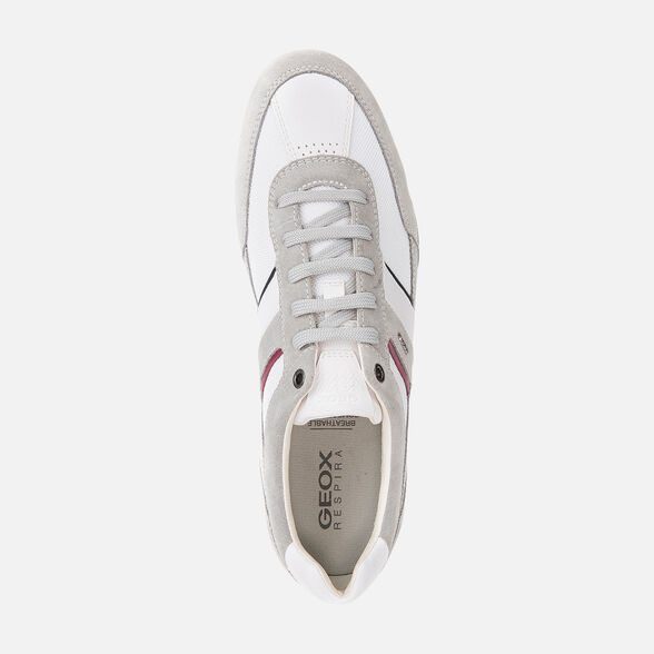 SNEAKERS MAN GEOX WELLS MAN - LIGHT GREY AND WHITE