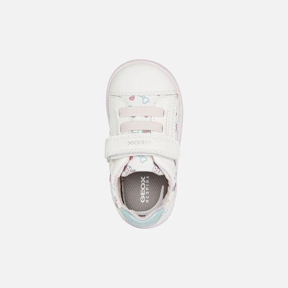 SNEAKERS BABY GEOX DJROCK BABY GIRL - WHITE