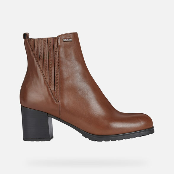 Presunción calibre Imperio  Geox NEW LISE NP ABX Woman: Chestnut Ankle Boots   Geox® FW20/21