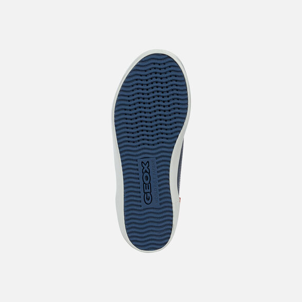 Geox Baskets Kilwi Bleu Marine Blanc Garçon