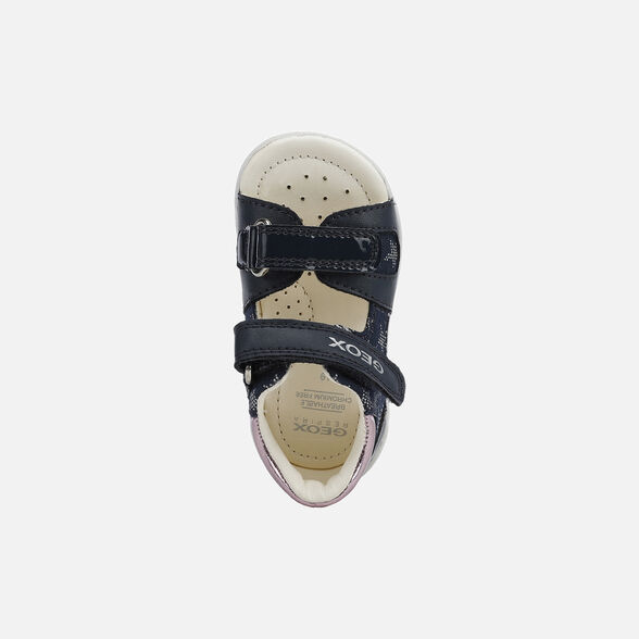 FIRST STEPS BABY GEOX NICELY BABY GIRL - NAVY AND PINK
