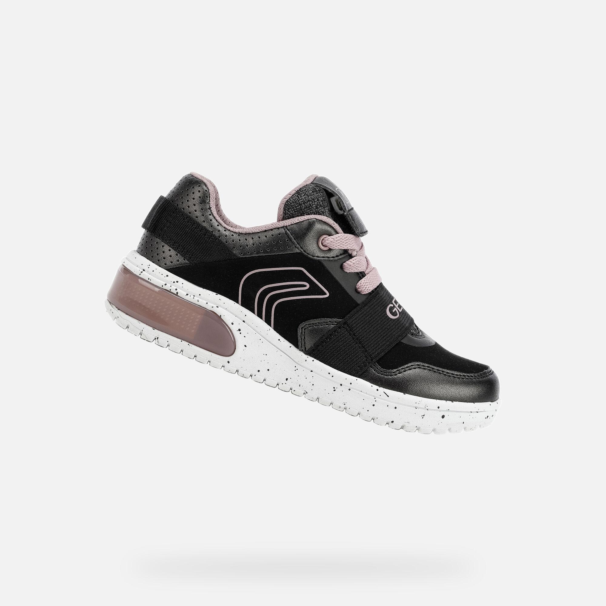 Geox XLED Junior Girl: Black Sneakers   Geox FW1920