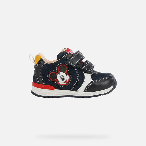 MICKEY MOUSE BABY GEOX RISHON BABY BOY - NAVY AND WHITE