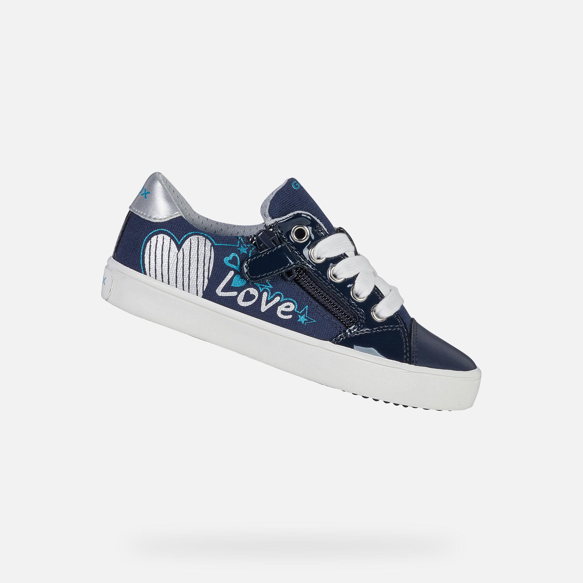 Geox GISLI Girl: Navy Sneakers | Geox