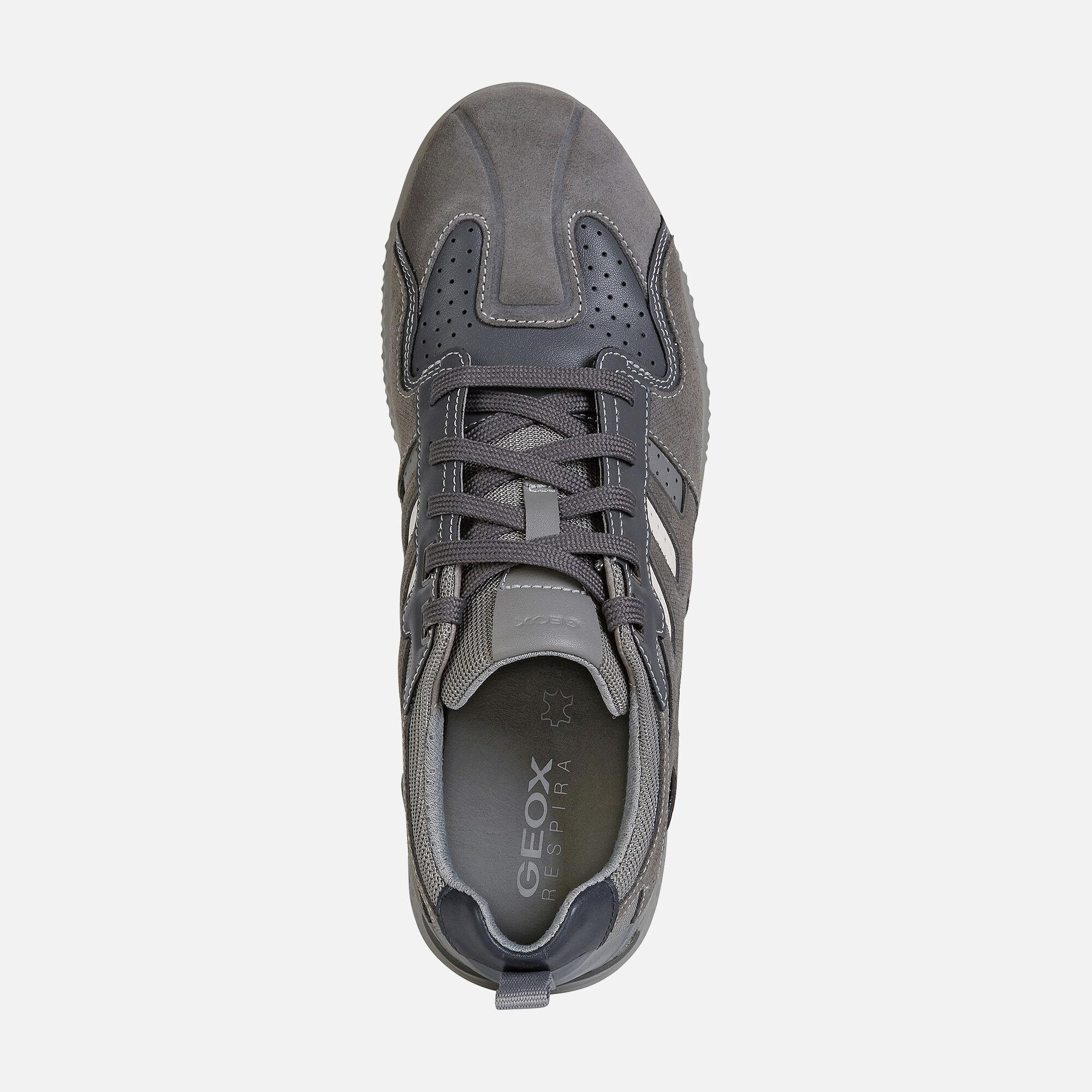 Geox SNAKE.2 Man: Grey Sneakers   Geox