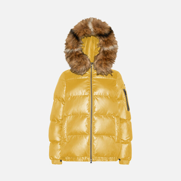BOMBER JACKETS WOMAN GEOX BACKSIE WOMAN - SPICY MUSTARD