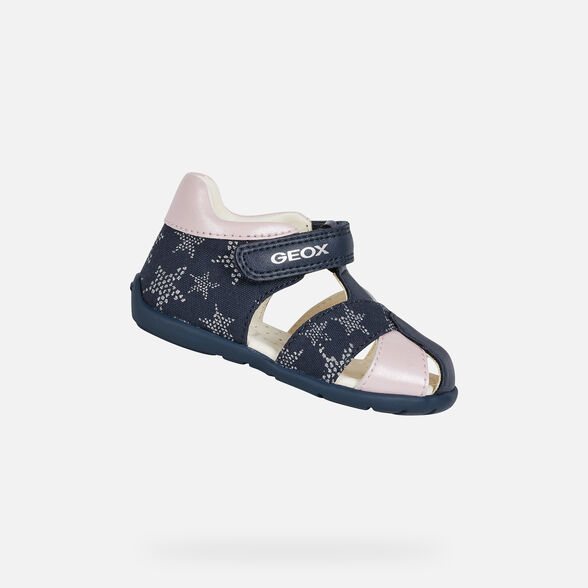 FIRST STEPS BABY GEOX ELTHAN BABY GIRL - NAVY AND PINK
