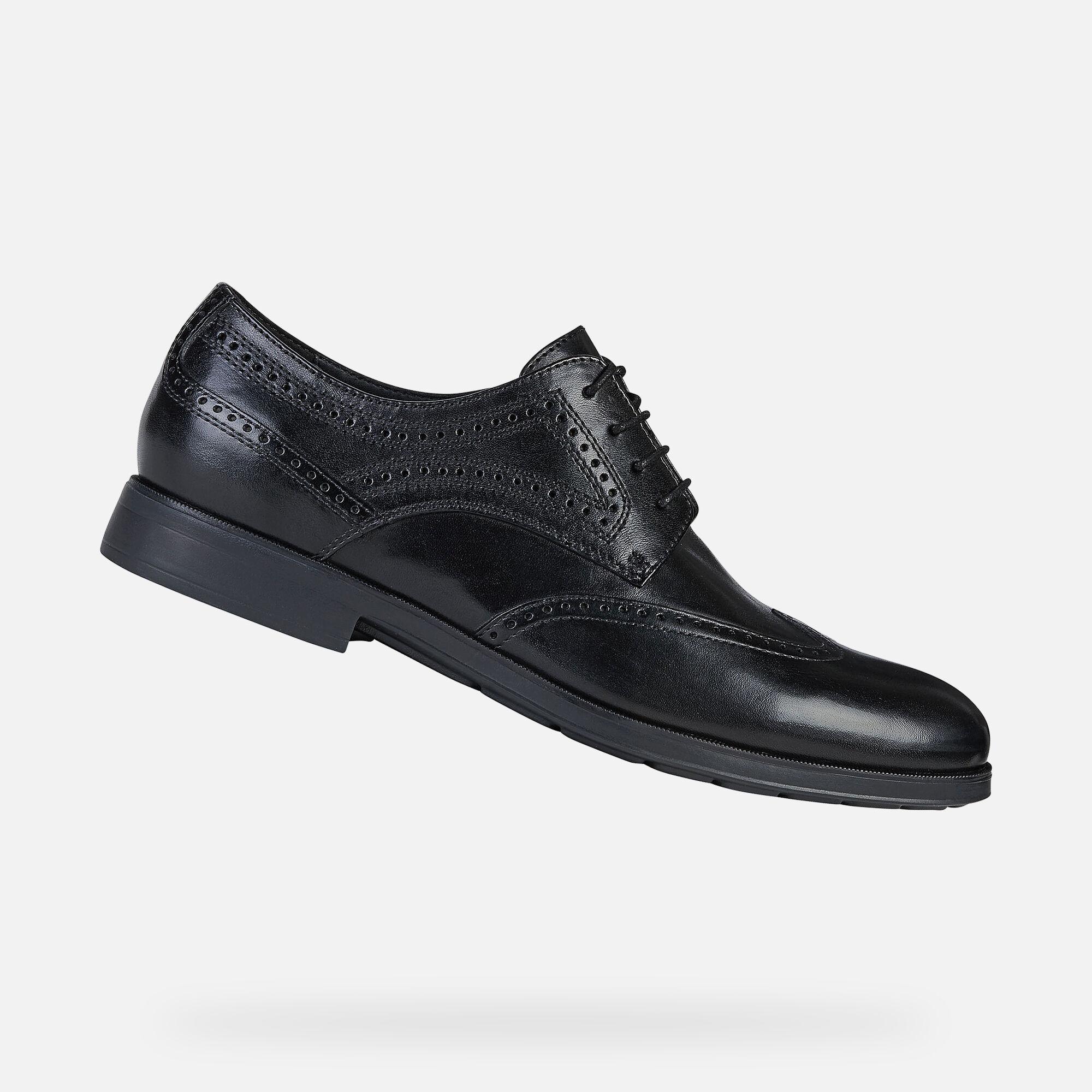 Geox HILSTONE WIDE Man: Black Shoes