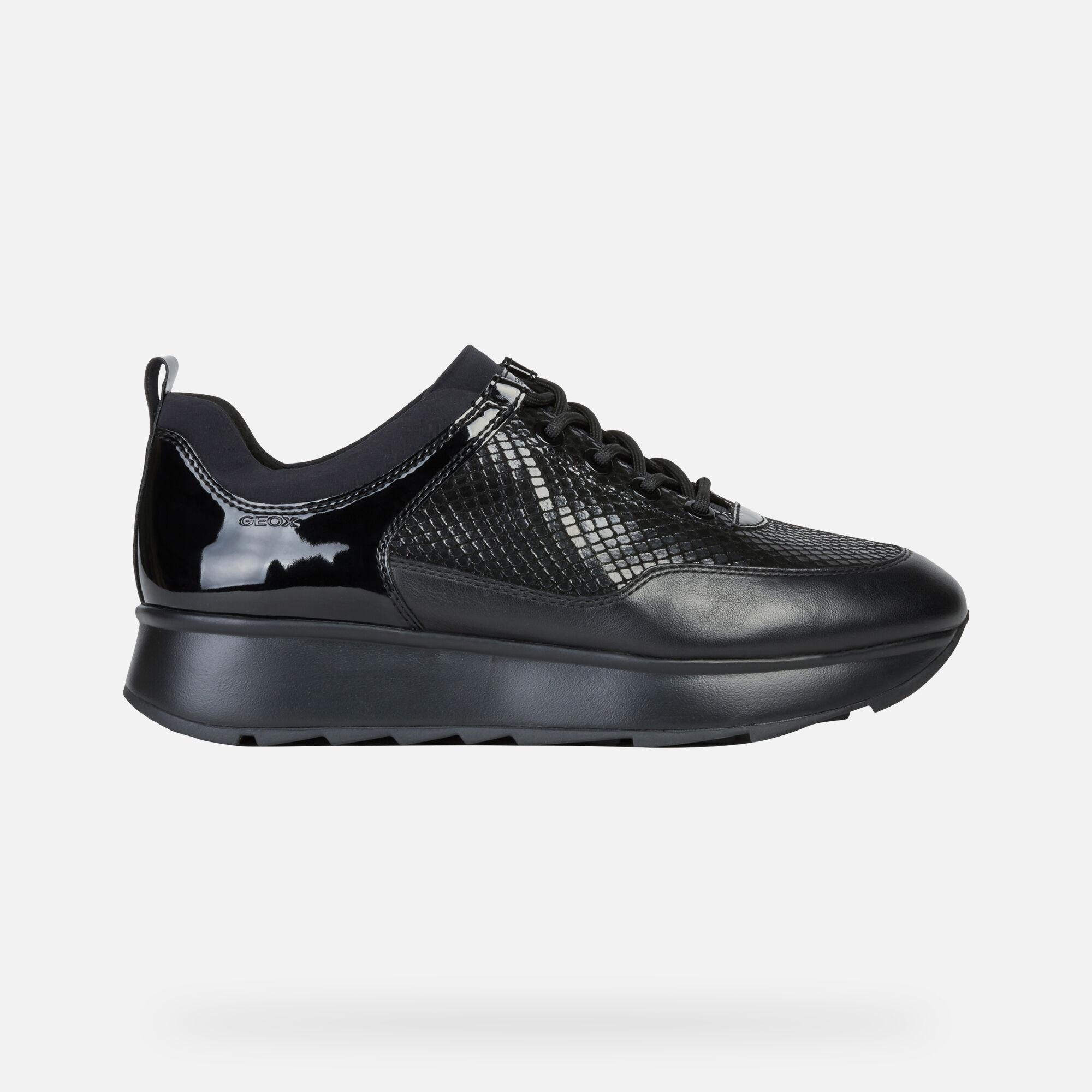 Geox GENDRY Frau: schwarze Sneakers Low | Geox ® offizielle