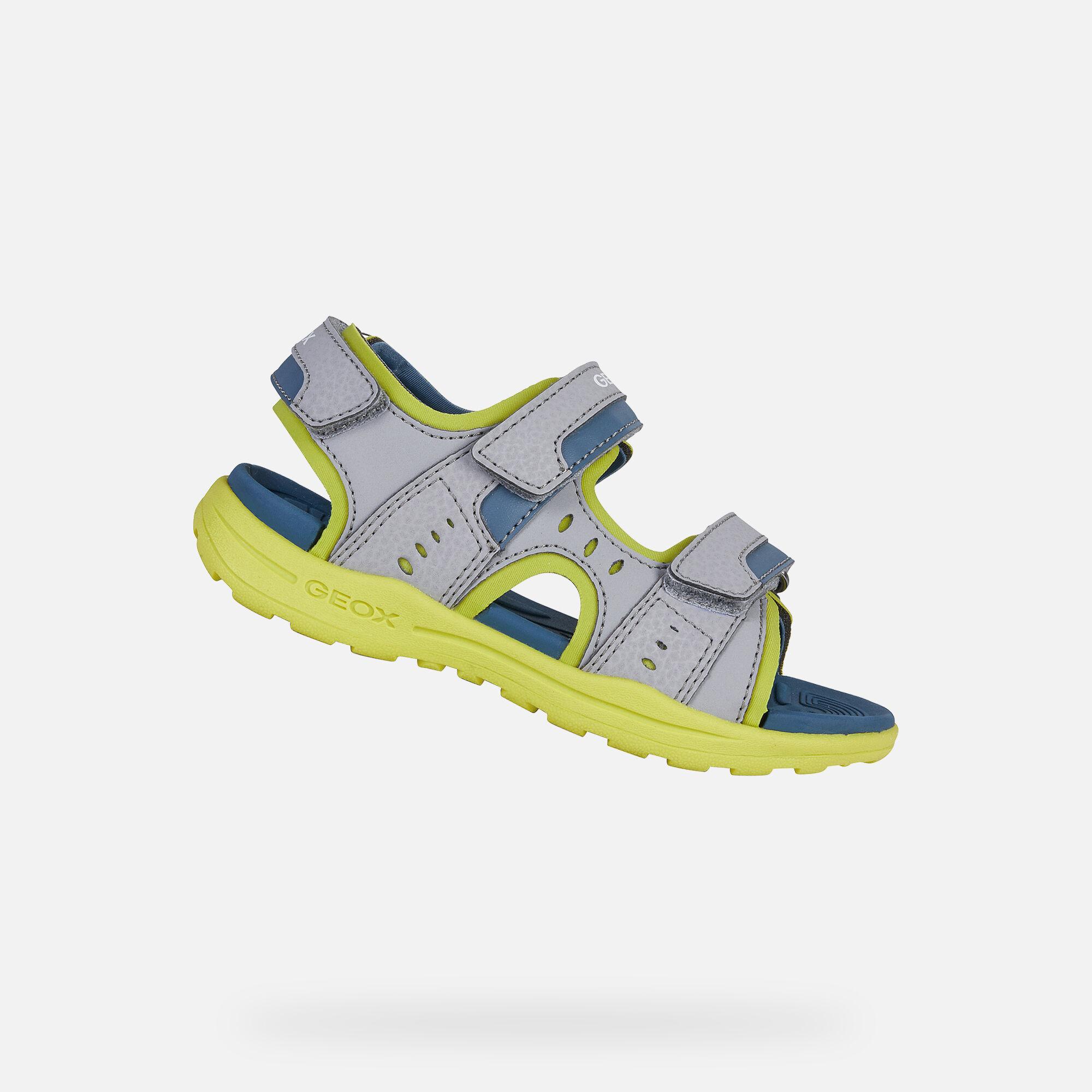 Geox VANIETT Boy: Grey Sandals | Geox