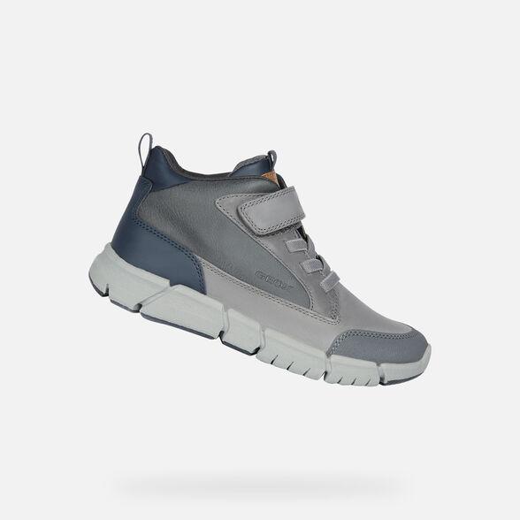 envío gratis venta más barata información para Geox FLEXYPER Junior Boy: Grey Ankle Boots | Geox Fall Winter