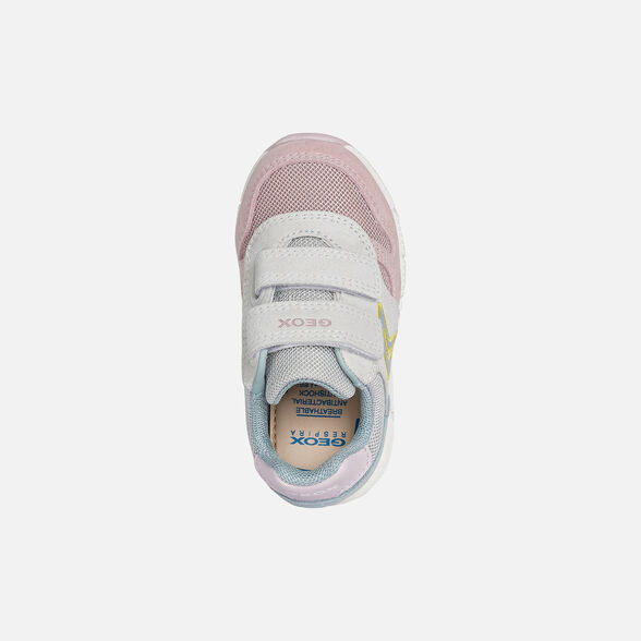 SNEAKERS BABY GEOX ALBEN BABY GIRL - WHITE AND ROSE