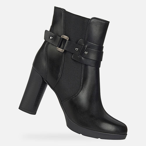 ANKLE BOOTS WOMAN GEOX ANYLLA HIGH WOMAN - null