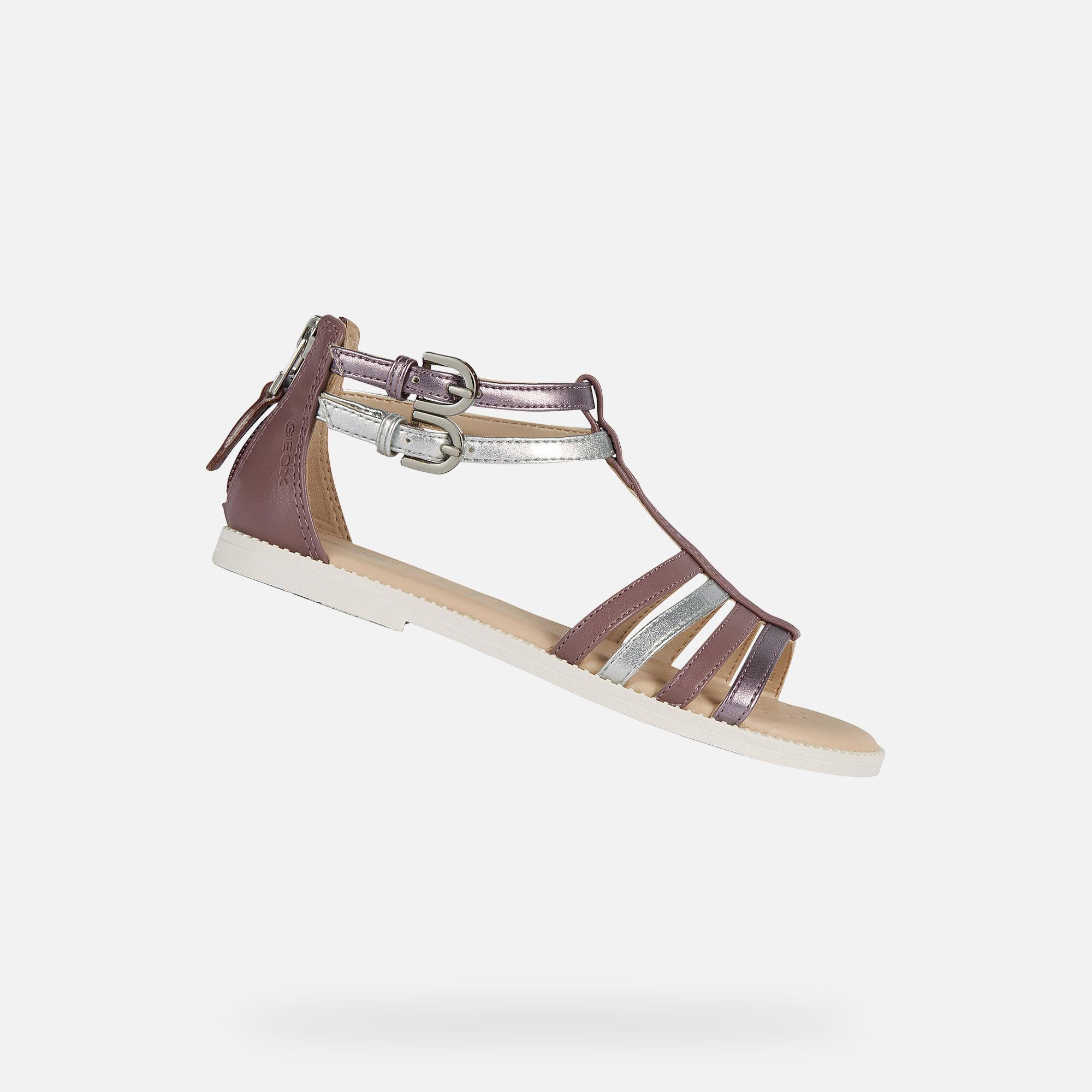 Geox KARLY Girl: Rose Smoke Sandals