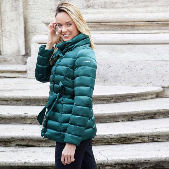 comprare popolare d3628 fdbcc GEOX CHLOO Donna: Piumino Pino | GEOX Autunno-Inverno | Geox