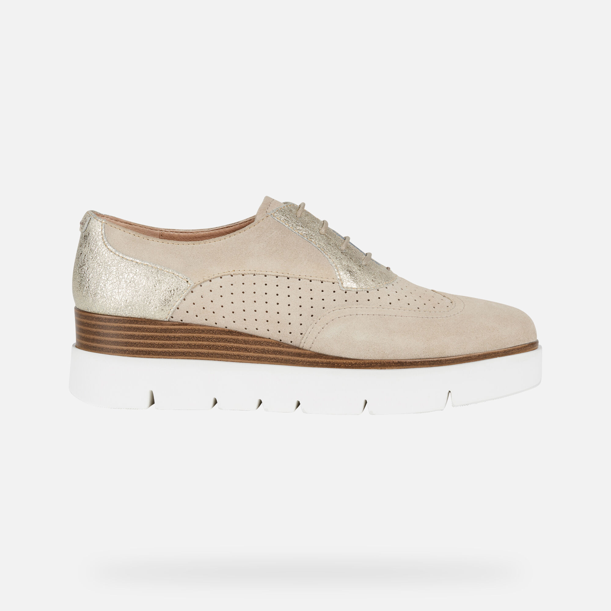 Chaussures sport femme Geox dorées effet métallisé · Geox