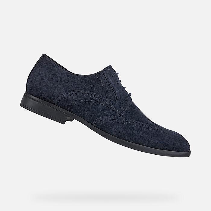 geox black cheap dress shoes, Men Boots Geox MATTIAS Lace