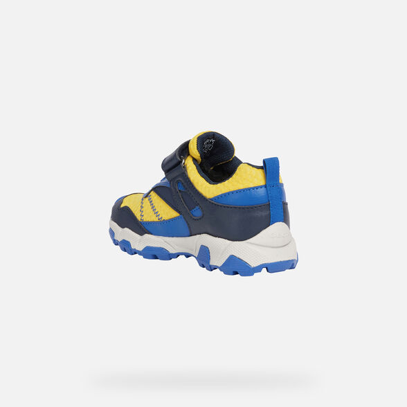 SNEAKERS BOY GEOX MAGNETAR BOY  - NAVY AND YELLOW
