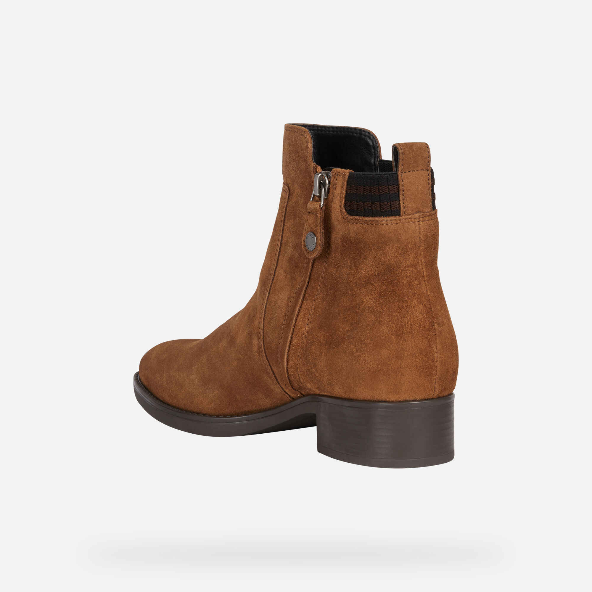 Geox Women's Felicity Leather Chelsea Boots, Brown | Chelsea