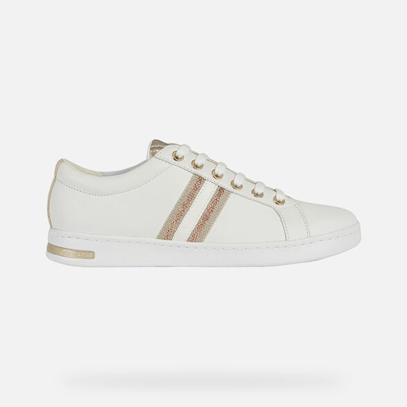 SNEAKERS WOMAN GEOX JAYSEN WOMAN - WHITE AND ROSE GOLD