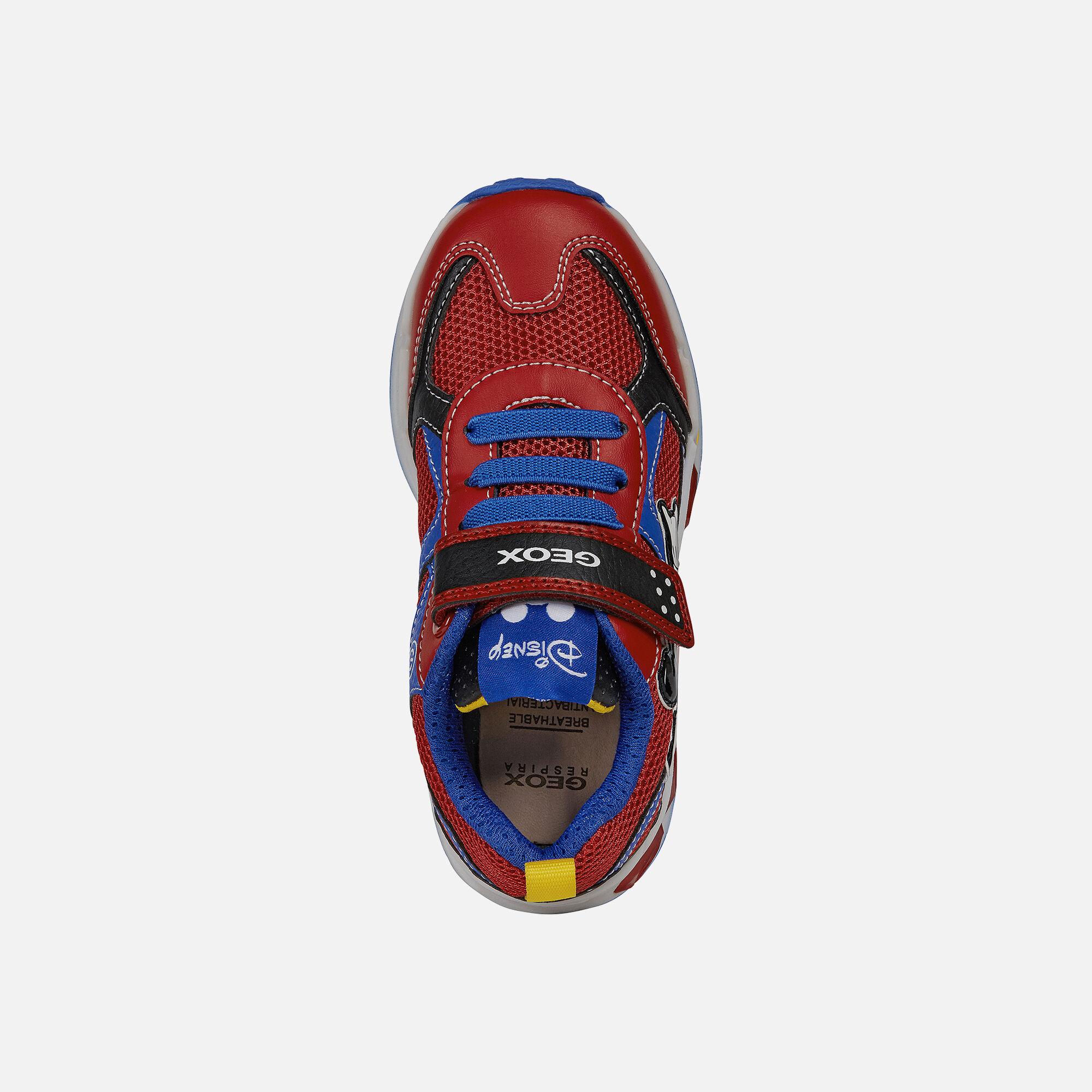 Geox sneaker jr boy shuttle luci chiusura doppio strap