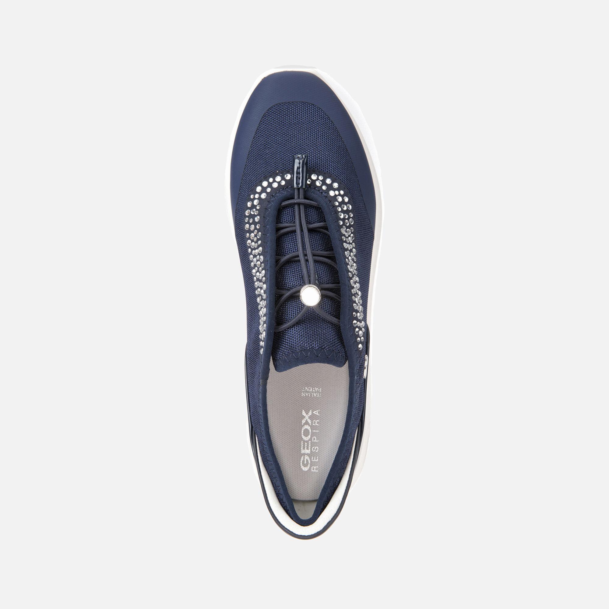 Geox D Ophira E Femmes Baskets Chaussures Bleu marine 7.5