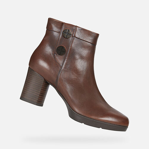 ANKLE BOOTS WOMAN GEOX ANYLLA MID WOMAN - null