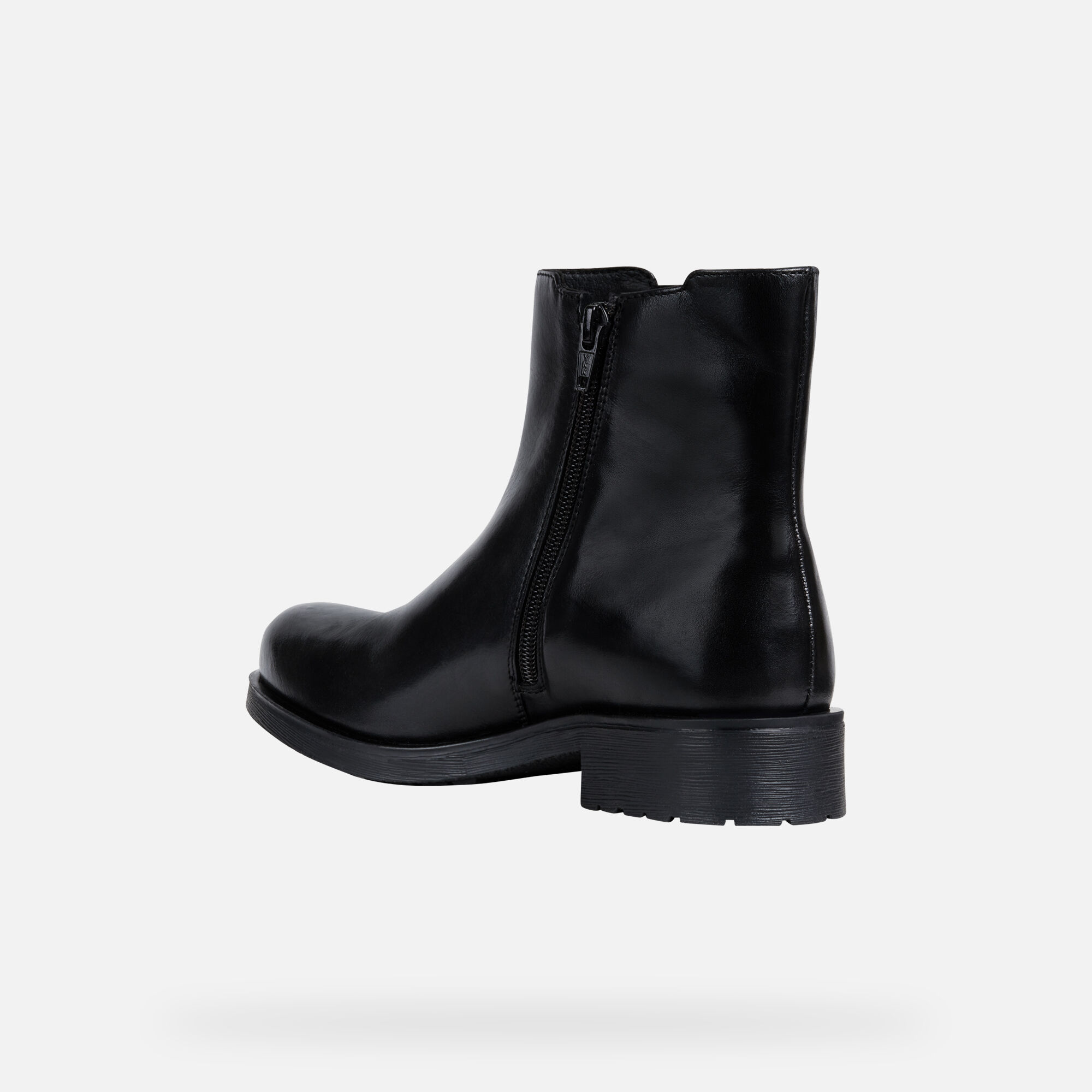 Geox DONNA NEW VIRNA: Black and White Woman Ankle Boots | Geox