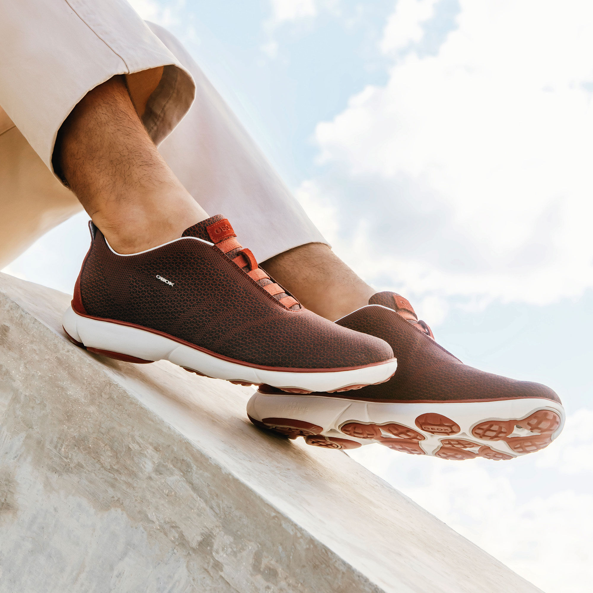Geox NEBULA Man: Black and Red Sneakers