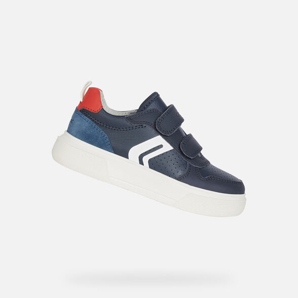 SNEAKERS BOY GEOX NETTUNO BOY - NAVY AND RED