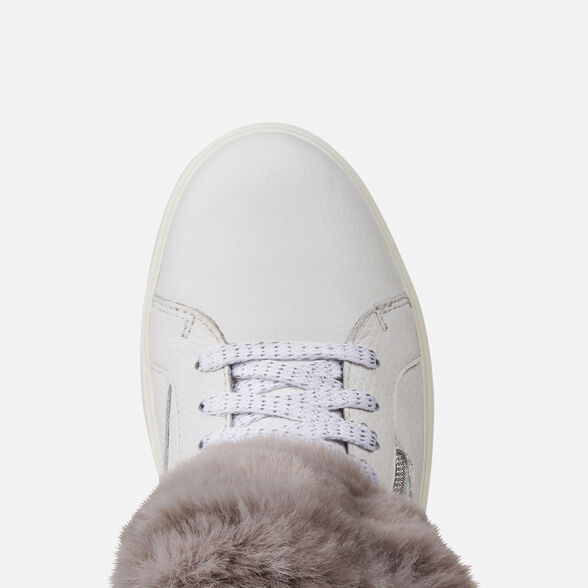 Converger Insignificante veneno  Geox KAULA B ABX Woman: White Sneakers | Geox® Online Store