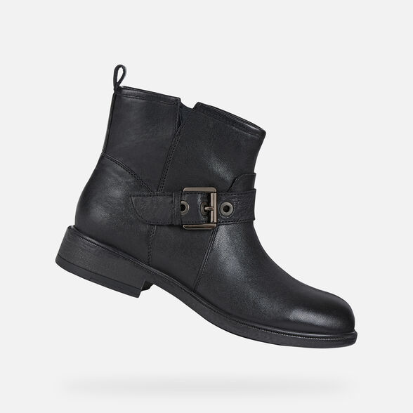 ANKLE BOOTS WOMAN GEOX CATRIA WOMAN - BLACK