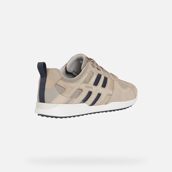 SNEAKERS MAN GEOX SNAKE.2 MAN - SAND AND NAVY