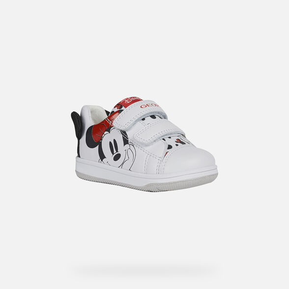 MICKEY MOUSE BABY GEOX NEW FLICK BABY GIRL - WHITE
