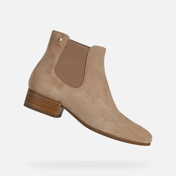 Hacer Converger articulo  Geox PEYTHON LOW C Woman: Light beige Ankle Boots   FW20 Geox®