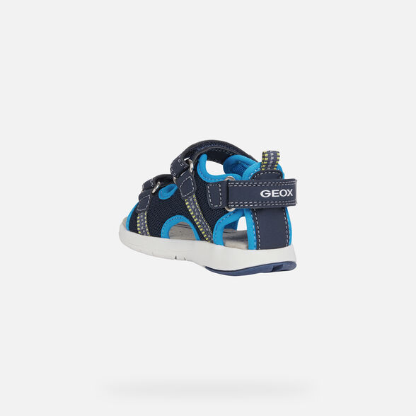 SANDALS BABY GEOX MULTY BABY BOY - NAVY AND AZURE