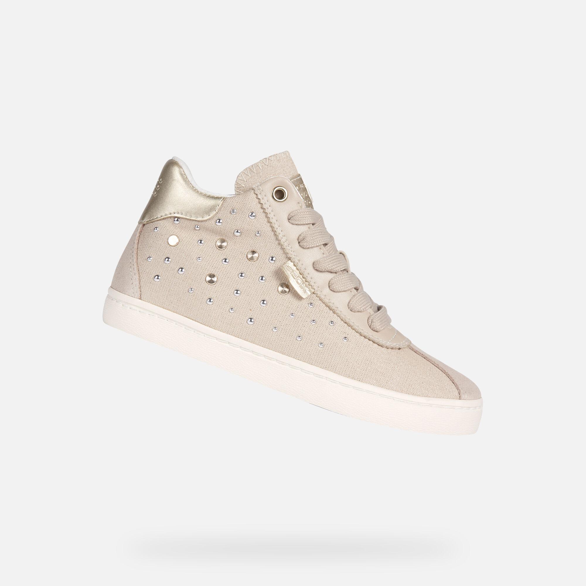 Geox J Kiwi G Girls Leather SneakersShoes