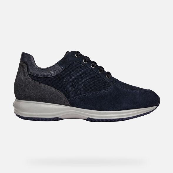 Adviento Primitivo Recogiendo hojas  Geox UOMO HAPPY Man: Navy blue Sneakers | FW20 Geox®