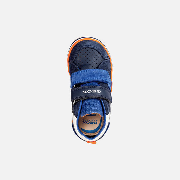 SNEAKERS BABY GEOX KILWI BABY BOY - NAVY AND ROYAL