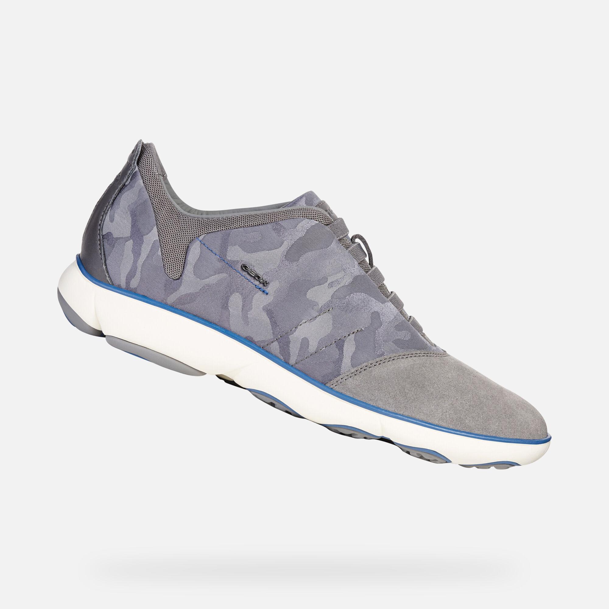 Geox U NEBULA: Dark Grey Man Sneakers | Geox SS19