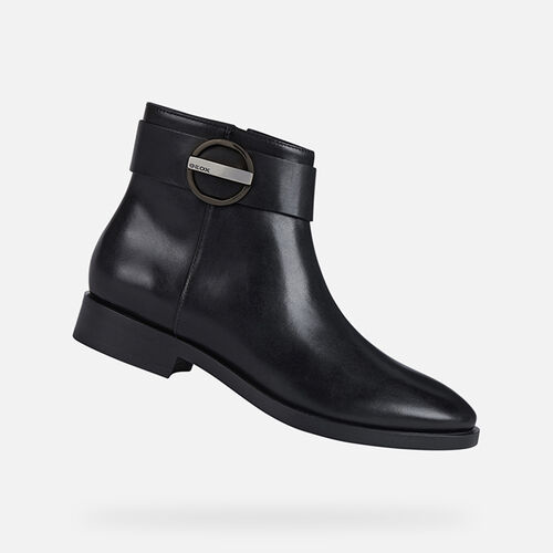 ANKLE BOOTS WOMAN GEOX BROGUE WOMAN - null