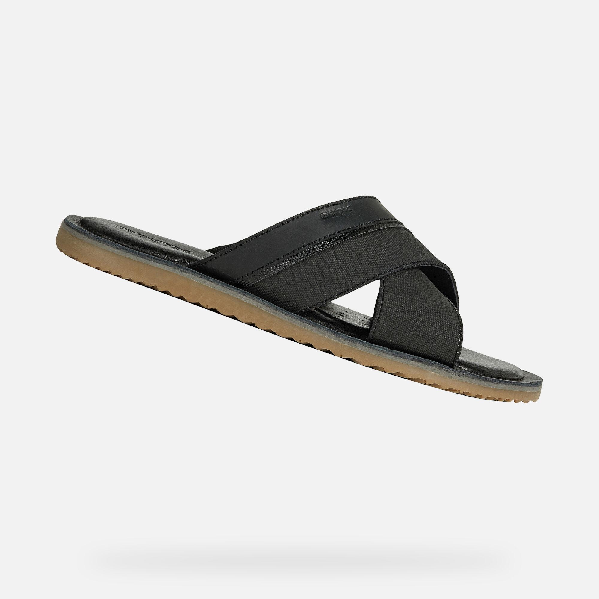zapatos geox sandalias negras para hombre originales